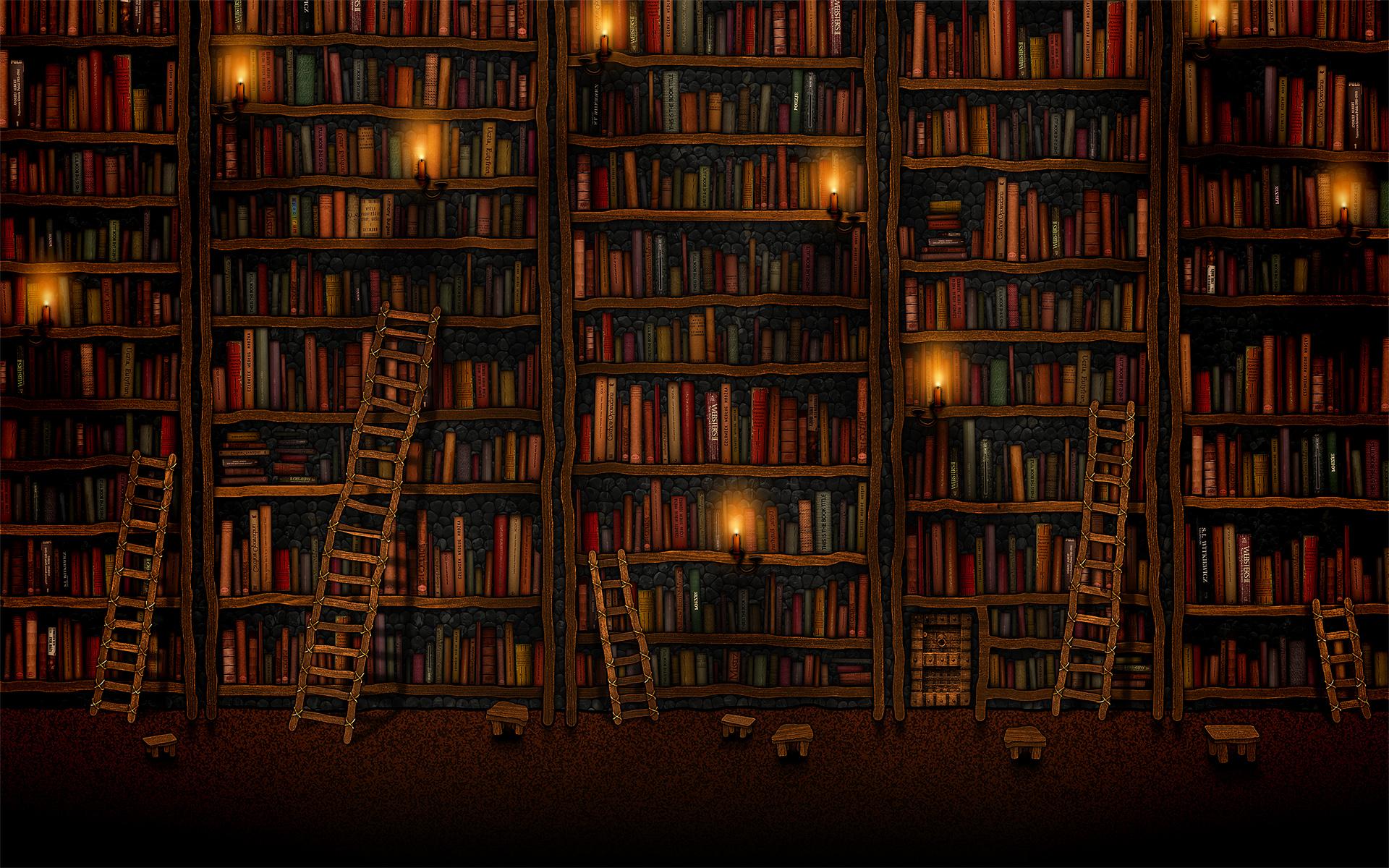 Kennis, bibliotheek, boeken, leren, studeren,